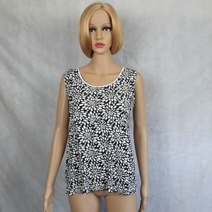 Kim Rogers Top Black and White  size XL
